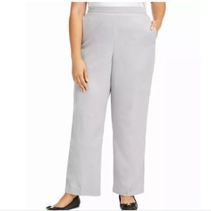 Alfred Dunner Lake Geneva Pull-On Pants 22W Grey